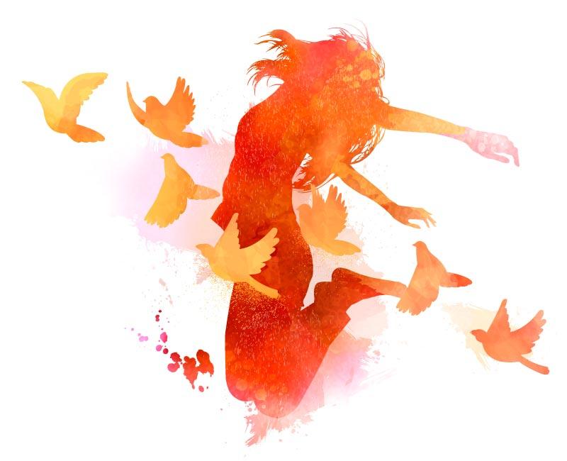 femme_oiseaux